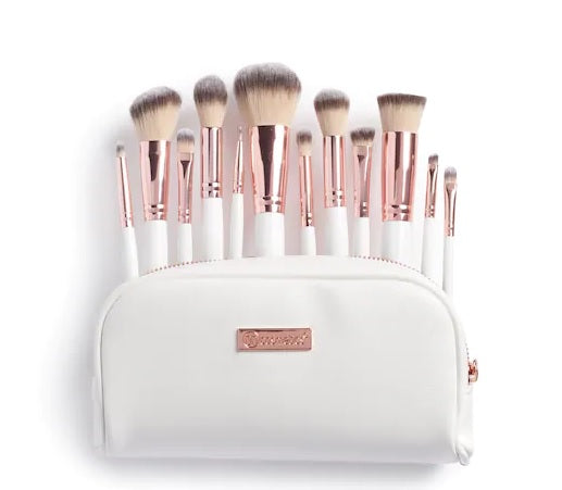 BH Cosmetics Rosé Romance - 12 Piece Brush Set With Cosmetic Bag