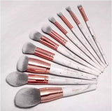 BH Cosmetics Marble Luxe - 10 Piece Brush Set