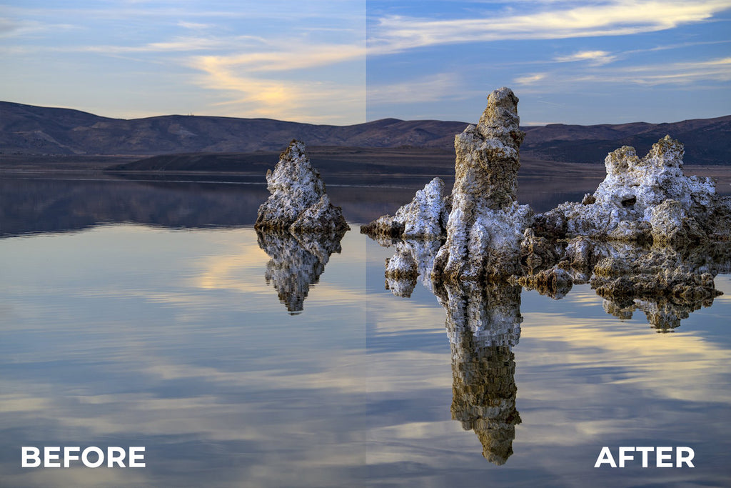 Circular Polarizer Before/After