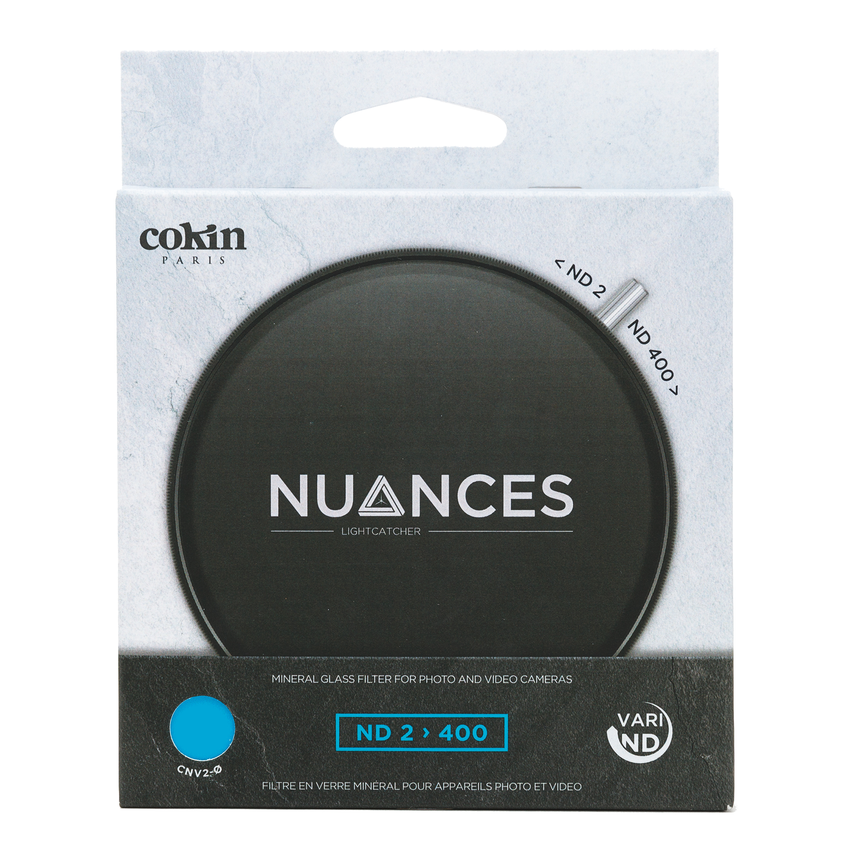 Front of box for cokin nuances variable ND camera filter