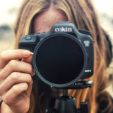 Cokin Variable Neutral Density filter on canon camera