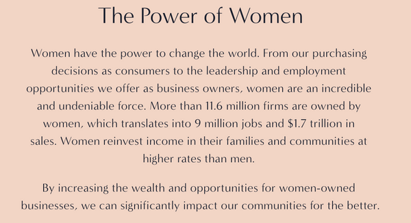 The power of women-led businesses.