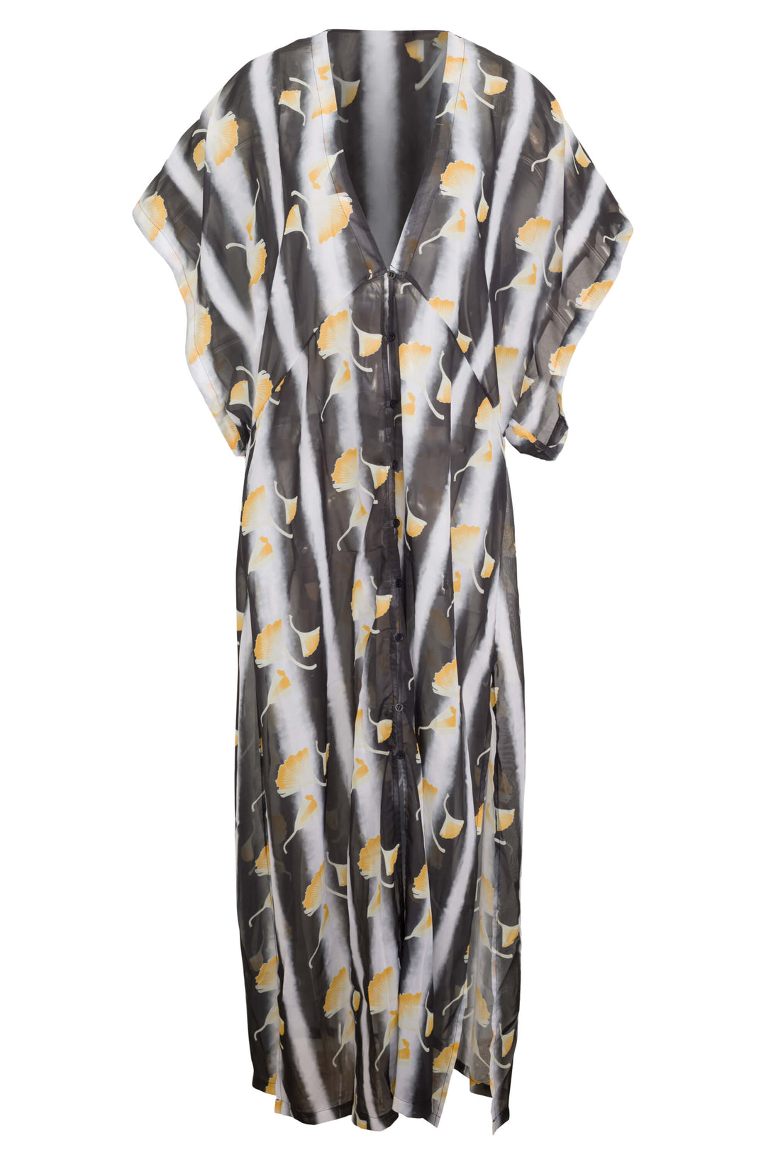 Amber cover up in ginkgo print