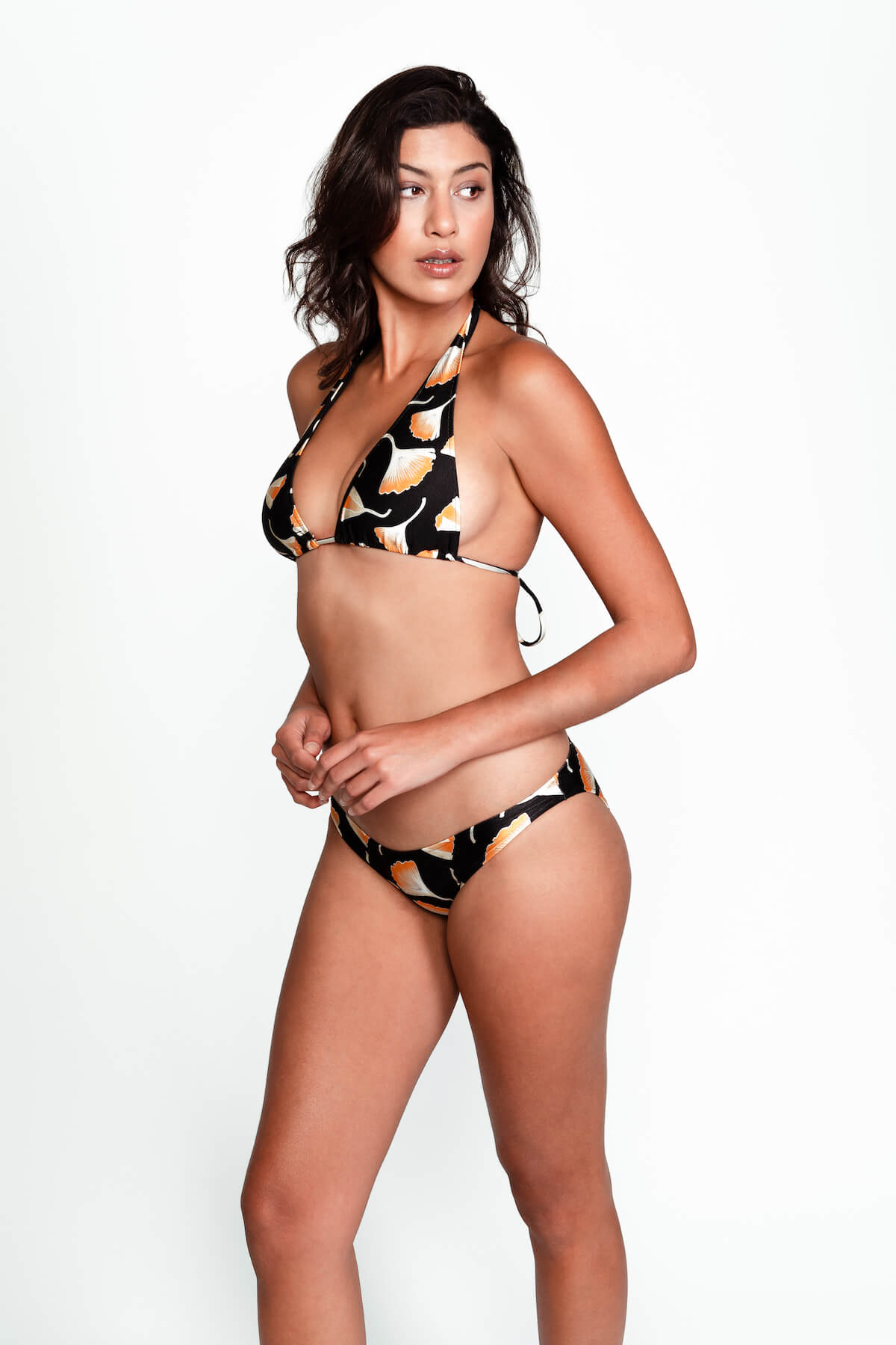 Side of Jenna bikini bottom in Ginko Black