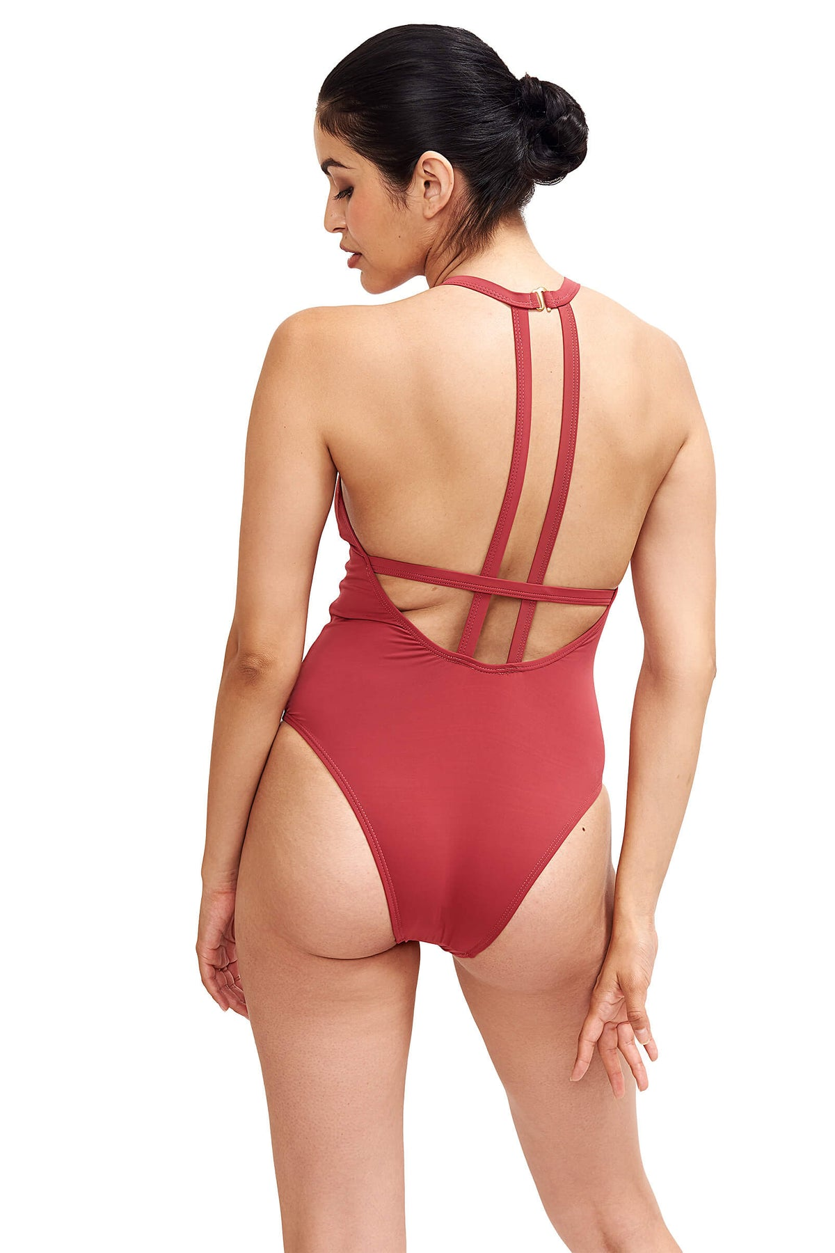 Denise One Piece Swimsuit in Terracotta