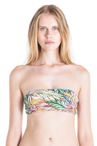 Diane bandeau swimsuit top in tropical