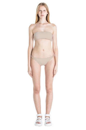 Front of Diane swimsuit bottom in Camel