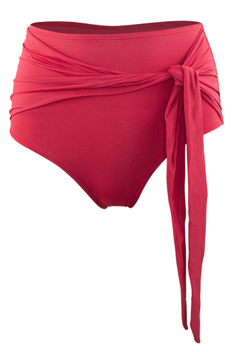Giovanna high rise swimsuit bottoms in Terracotta
