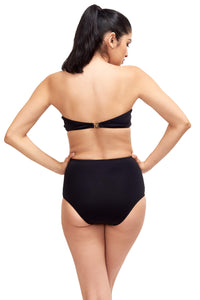 Back of Giovanna high waisted swimsuit bottom in Black