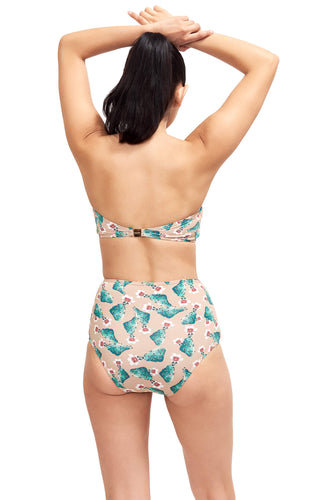 Back of Giovanna high waisted swimsuit bottom in Cactus.
