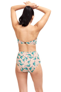 Back of Giovanna high waist swimsuit bottom in Cactus