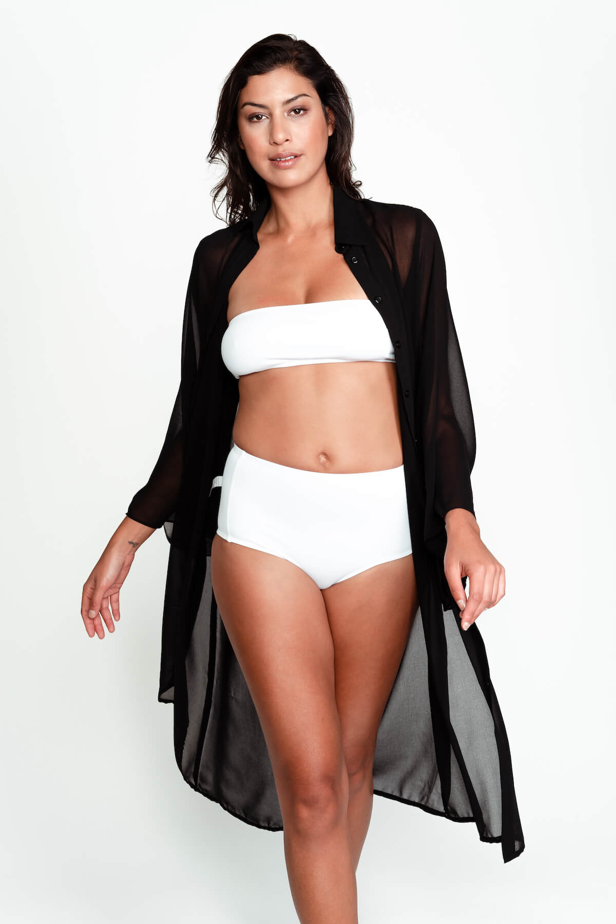 Kris swimsuit cover up in Black