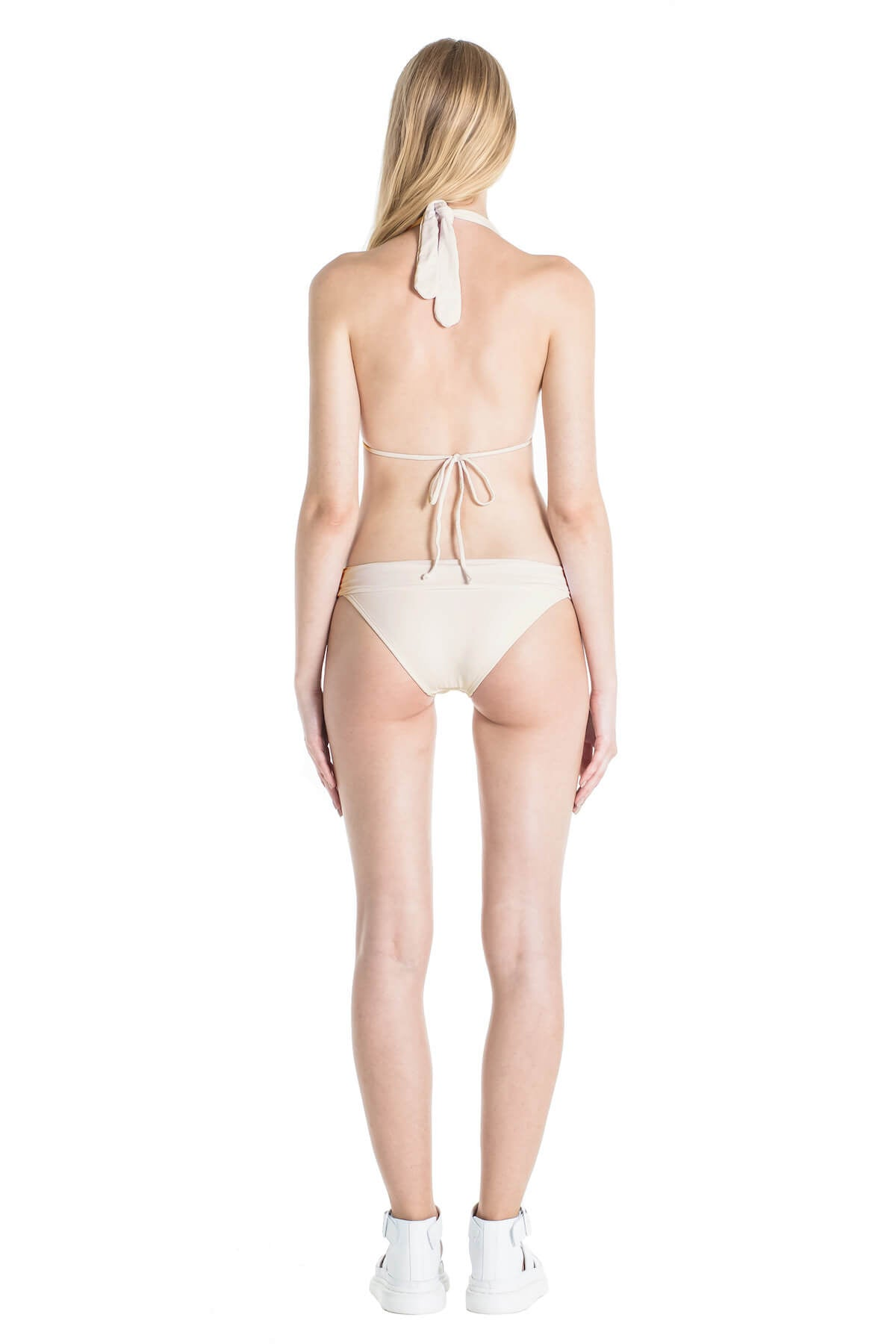 Back of Nina neutral bikini bottoms in Ivory.