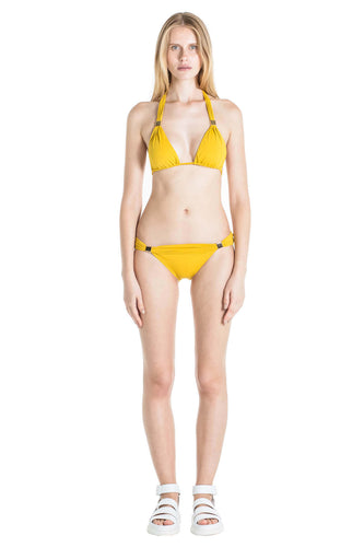 Front of Nina bikini bottom in Mustard.