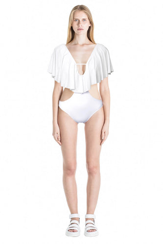 Front of Thais monokini in White