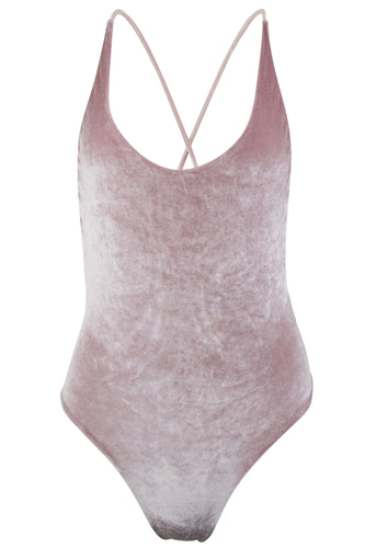 Zoe one piece swimsuit blush velvet
