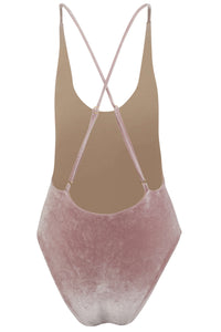 Zoe One Piece Swimsuit Blush Velvet Back