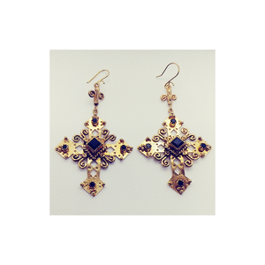 The Paloma Cross Earrings (E:TPC-bg-sq2-a2)