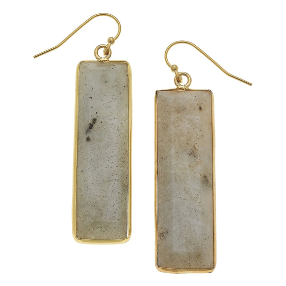 Labradorite Bar Earrings (1170g)