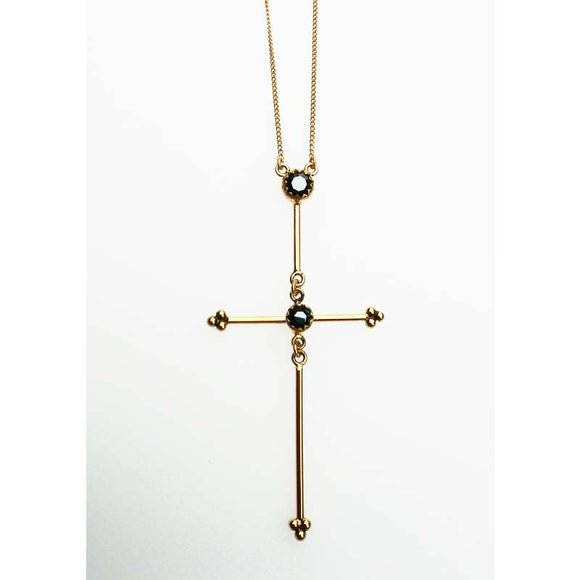 Garland Cross Necklace (N:GC-bg-a3-a3)