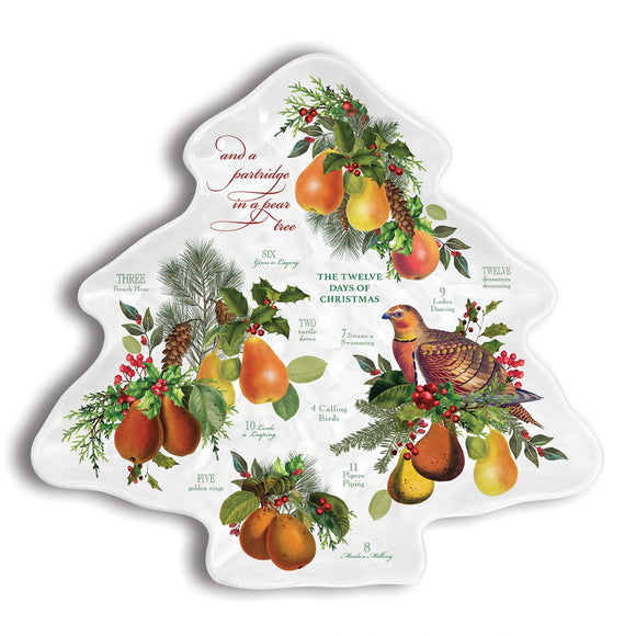 In a Pear Tree Christmas Tree Plate (SWTP345)