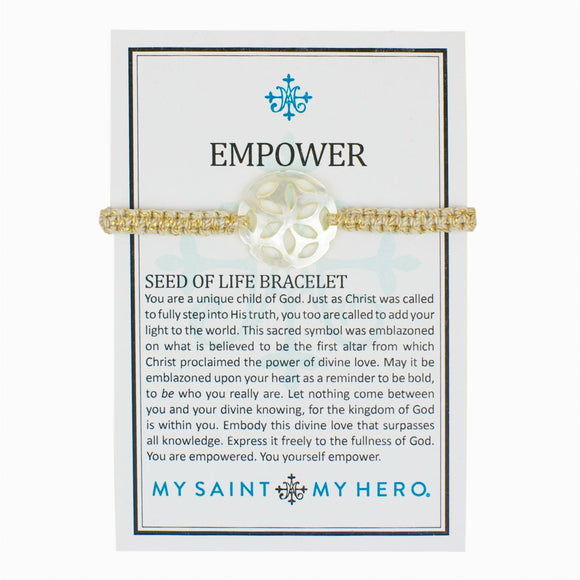 Empower Seed of Life Bracelet (BR00066-G-114)