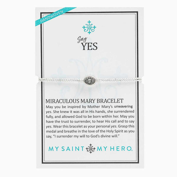 Say Yes Miraculous Mary Bracelet (BR00105-S-115)