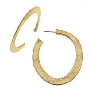 Hammered Hoop Earrings (1466g)