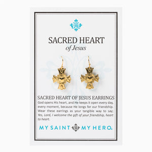 Sacred Heart of Jesus Earrings (ER00010-G)