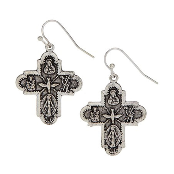 Family Cross Earrings (1879s)