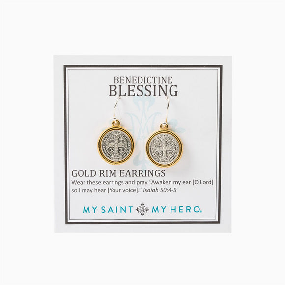 Benedictine Blessing Earrings (EBGRM)