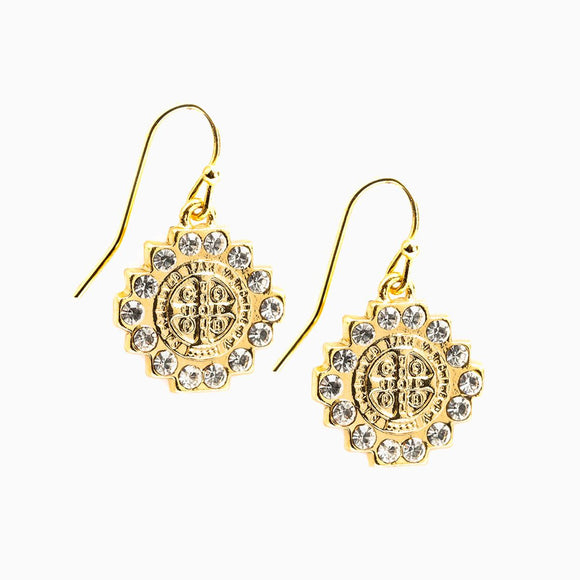 Brilliance Crystal Drop Earrings, Gold (EBRI-G)