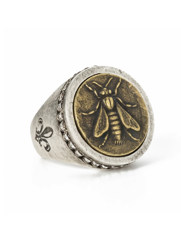 Mini Abeille Medallion Ring (32845)