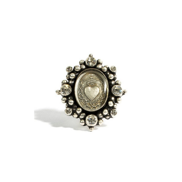 Sacred Heart Oval (Ring, Silver) (R:SHO-BS-A1-xx)
