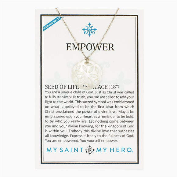 Empower Seed of Life Necklace (NK00044-SS)