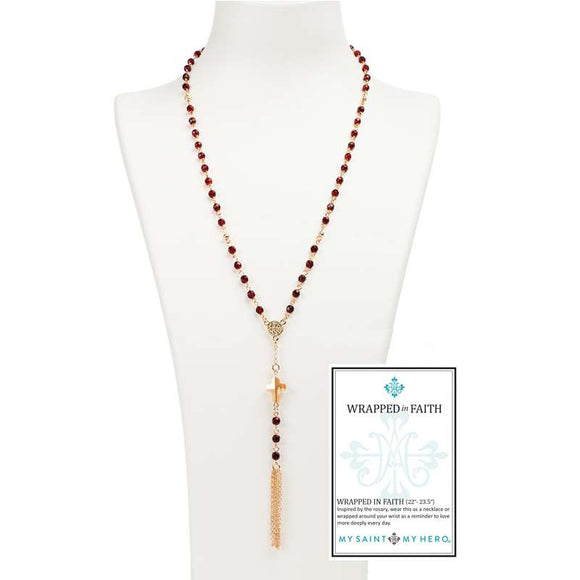 Wrapped in Faith Necklace (NK25-G-RG)