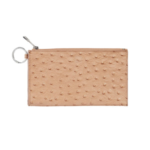Mocha Ostrich, Plus, Large Card Case (PLUS-O-M)