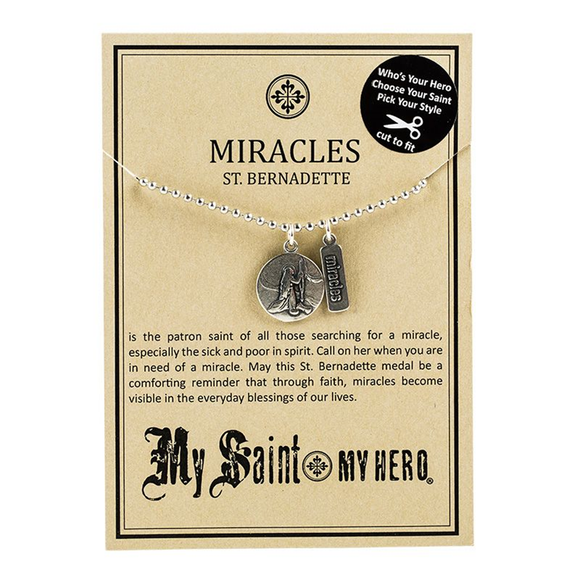 St. Bernadette Miracles Necklace (NBBB-3)