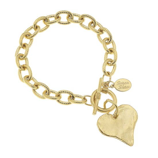 Heart Toggle Bracelet, gold (2510hg)