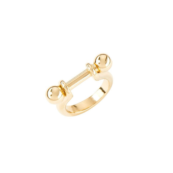 Pick 1 ring, gold (ANI0642ORO)