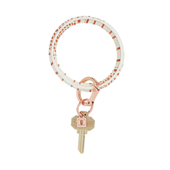 Rose Gold Croc, Big O Key Ring (BOKR-C-RG)