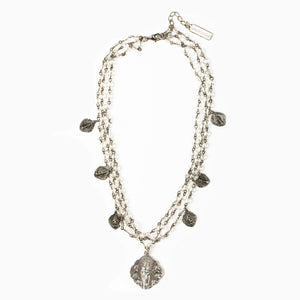Queen of Heaven Necklace, Silver (NK00045-S)