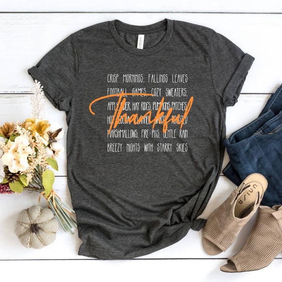 T-Shirt- Thankful over Fall Words