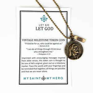 Let Go Let God Necklace - Bead Ball (NK00066)