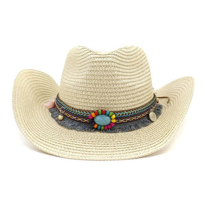 Straw beach Hat - Tan