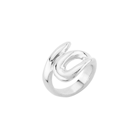 Tangled ring, silver