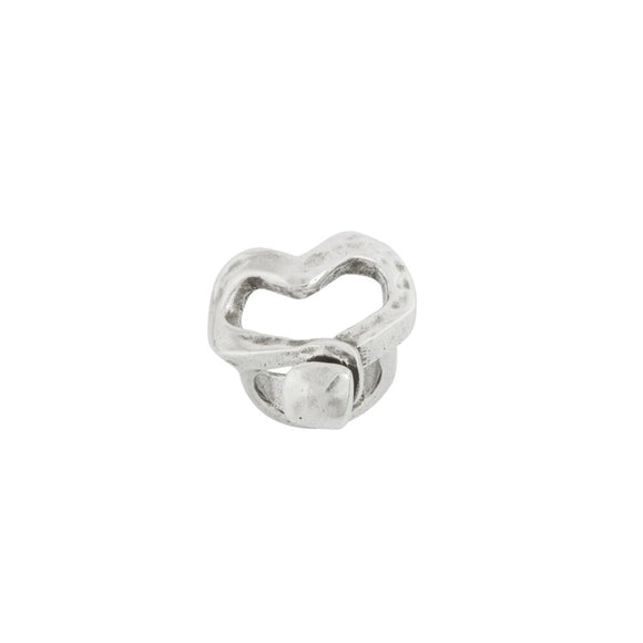 Nailed Heart (silver) (ANI0265MT)