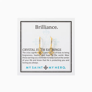Brilliance Crystal Faith Earrings, Gold (EBRIF-G)