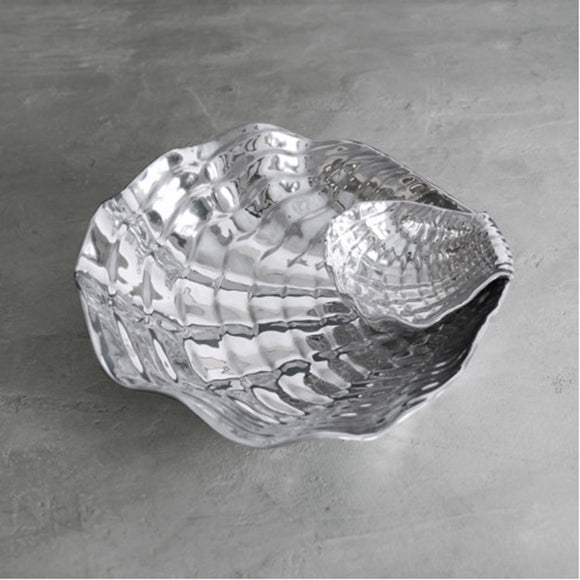 Shell Wavy Bowl with Dip