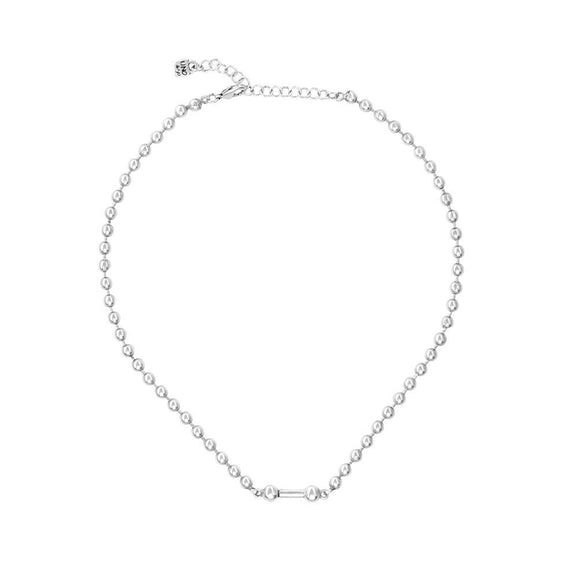 Pick 4 necklace, silver (COL1483MTL0000U)
